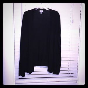 Old Navy lightweight black open front cardigan